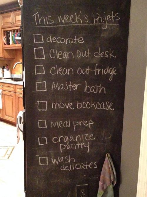 Chalkboard List
