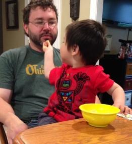Jacob feeding ty